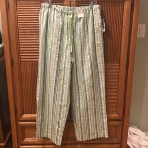 Charter Club Striped Pajama Bottoms.